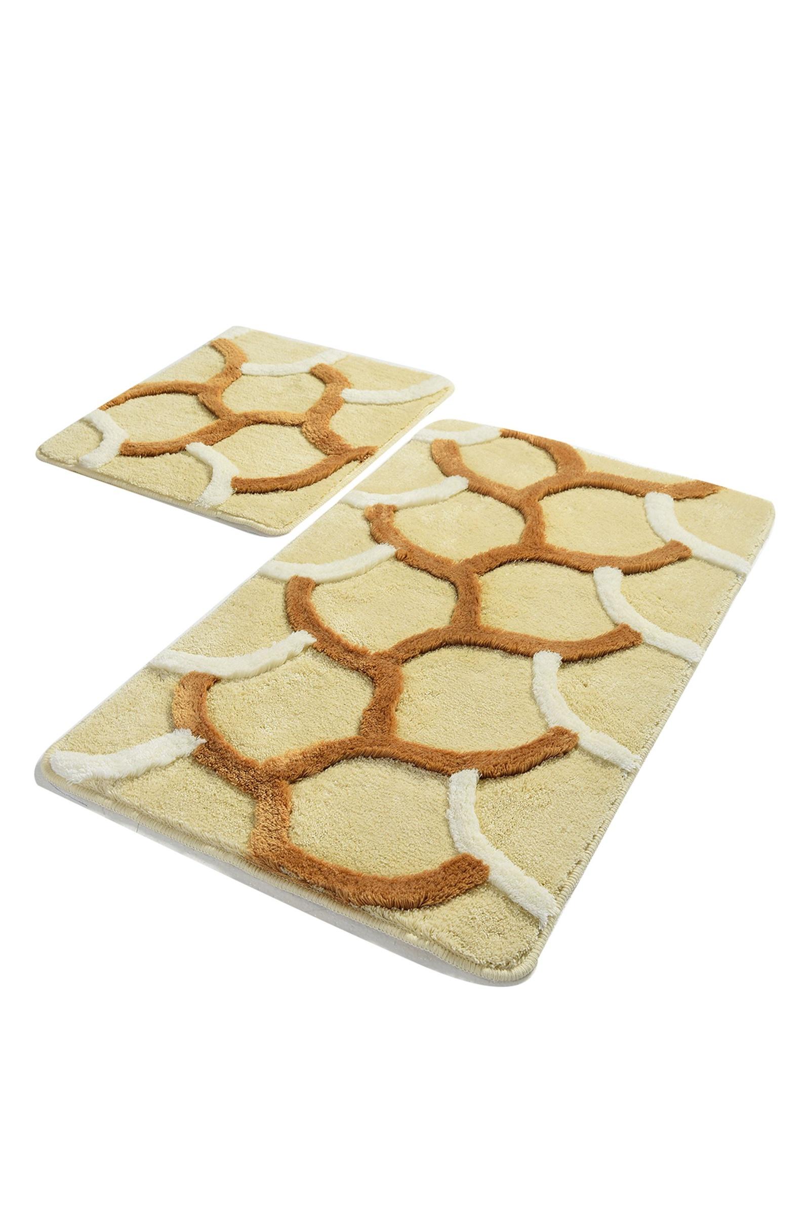 Набор ковриков для ванной DO&CO Коврик для ванной ELEGANT_бежевый, бежевый