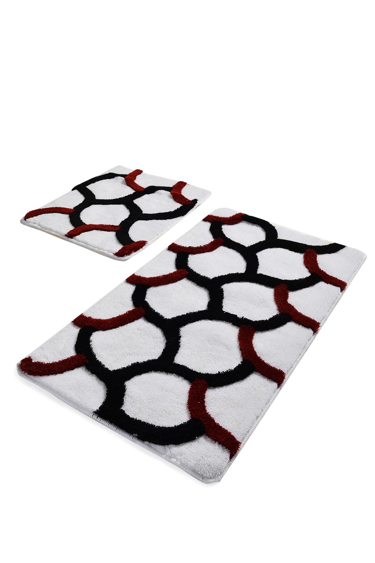 Набор ковриков для ванной DO&CO Коврик для ванной ELEGANT_белый, белый