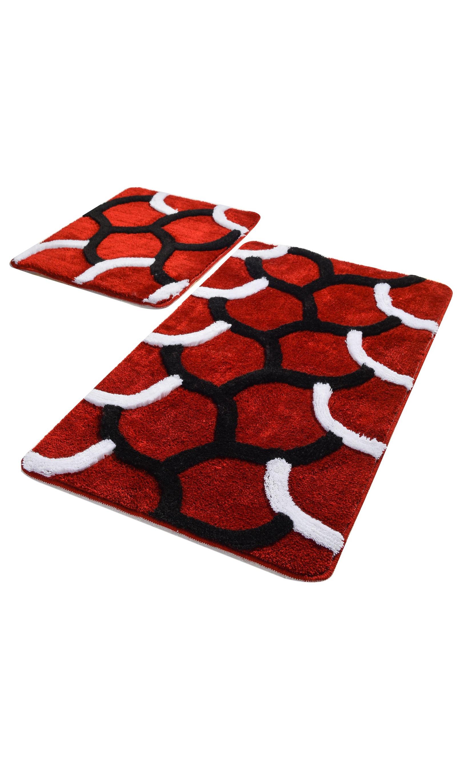 Набор ковриков для ванной DO&CO Коврик для ванной ELEGANT_красный, красный