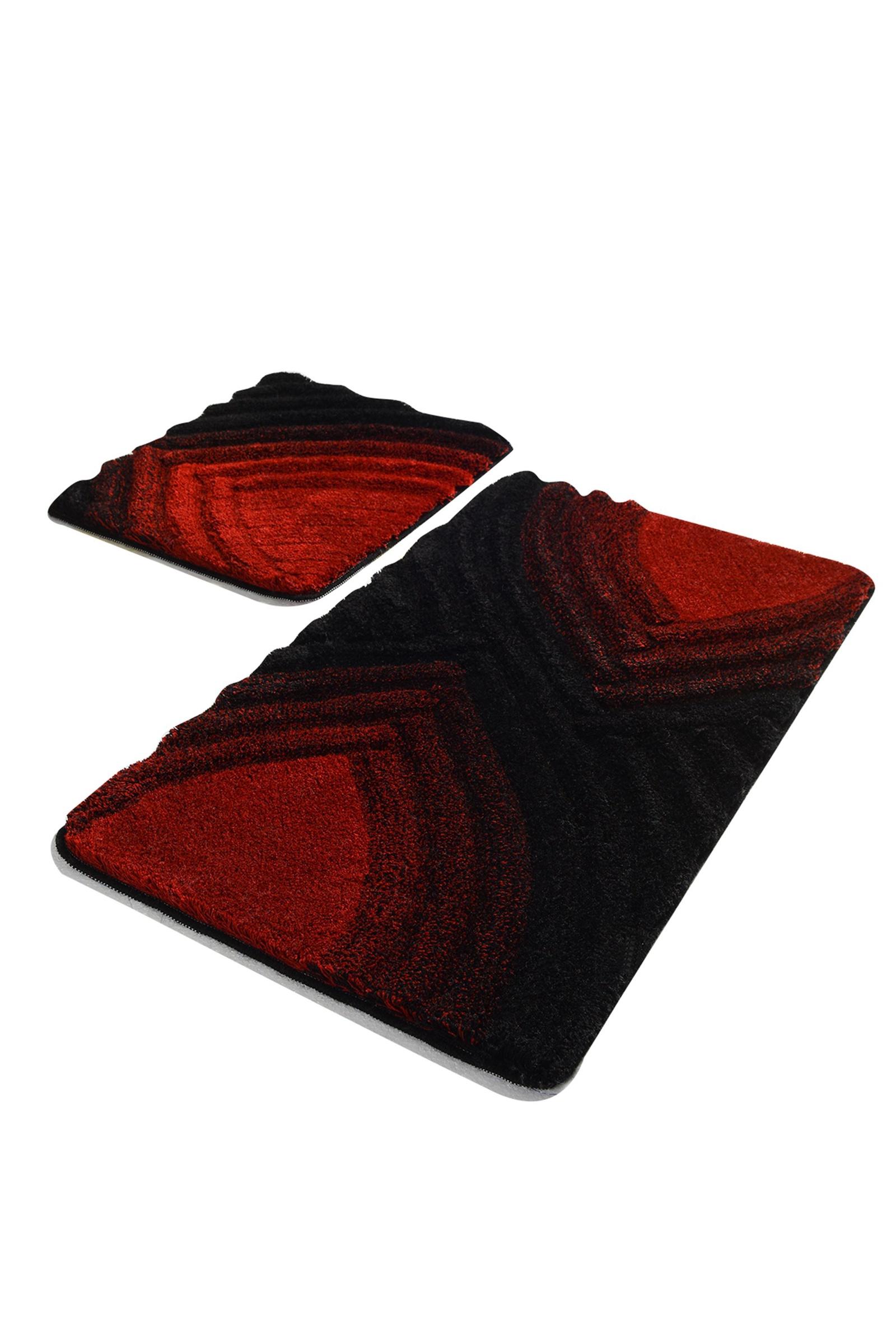 Набор ковриков для ванной DO&CO Коврик STELLA_красный, красный
