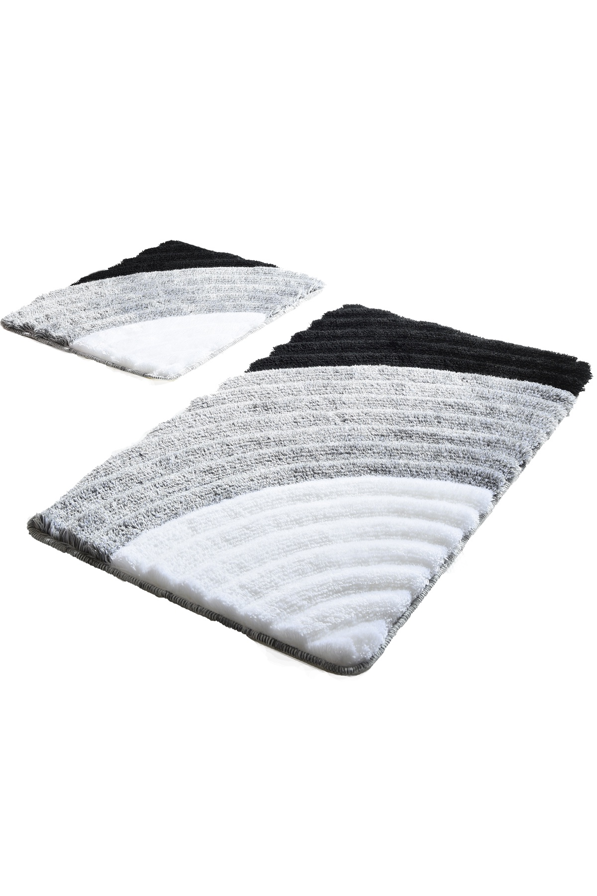 Набор ковриков для ванной DO&CO Коврики WELL_серый, серый