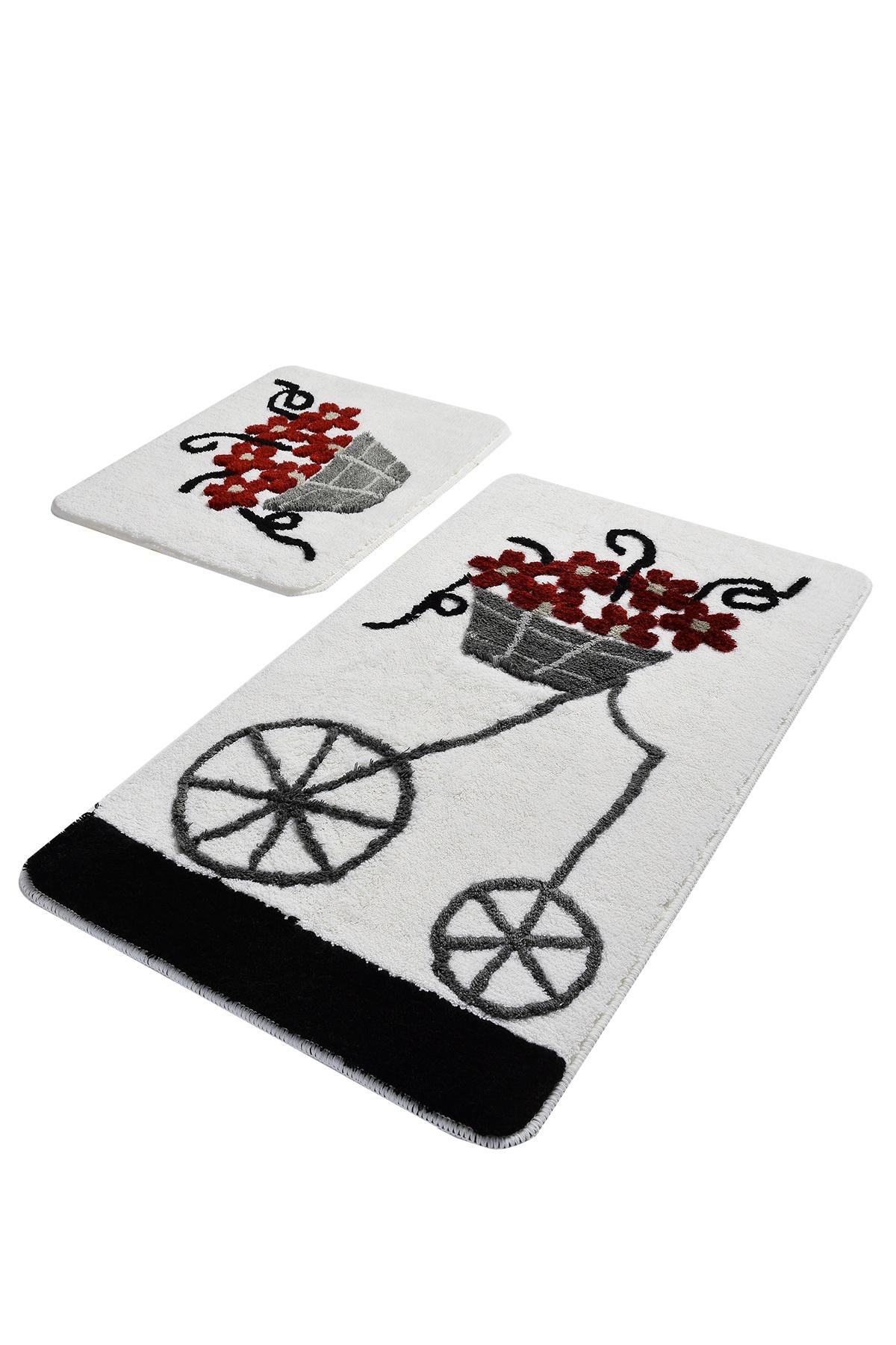 Набор ковриков для ванной DO&CO Коврик для ванной ALACATI_красный, красный коврик для ванной с рисунком clarisse 700 г м²