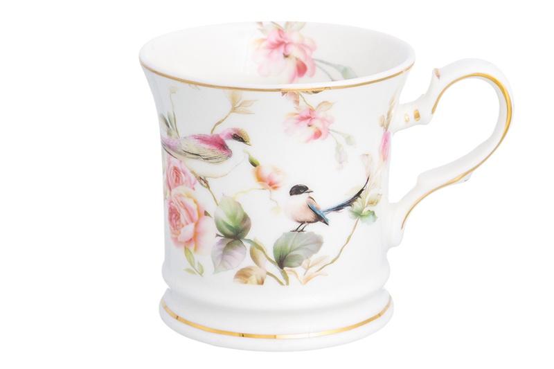 Кружка Elan Gallery Певчие птички, белый, розовый м а ступак певчие птички от mashamashastu мой блокнот зеленый