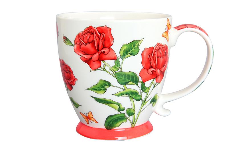 Кружка 450 мл 13,5х10х10,5 см Elan Gallery Розы красная на ножке кружка на ножке elan gallery морское путешествие 450 мл