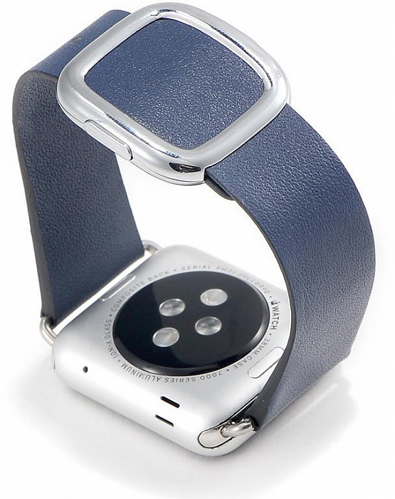 Ремешок для смарт-часов COTEetCI W5 Nobleman для Apple Watch/series 2/3/4 38/40mm, темно-синий ремешок apple sport loop для watch 38 мм темно синий
