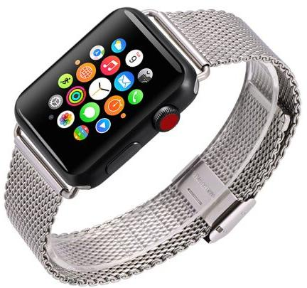 Ремешок для смарт-часов COTEetCI W23 для Apple Watch/Series 2/3/4 38/40mm, серебристый цена