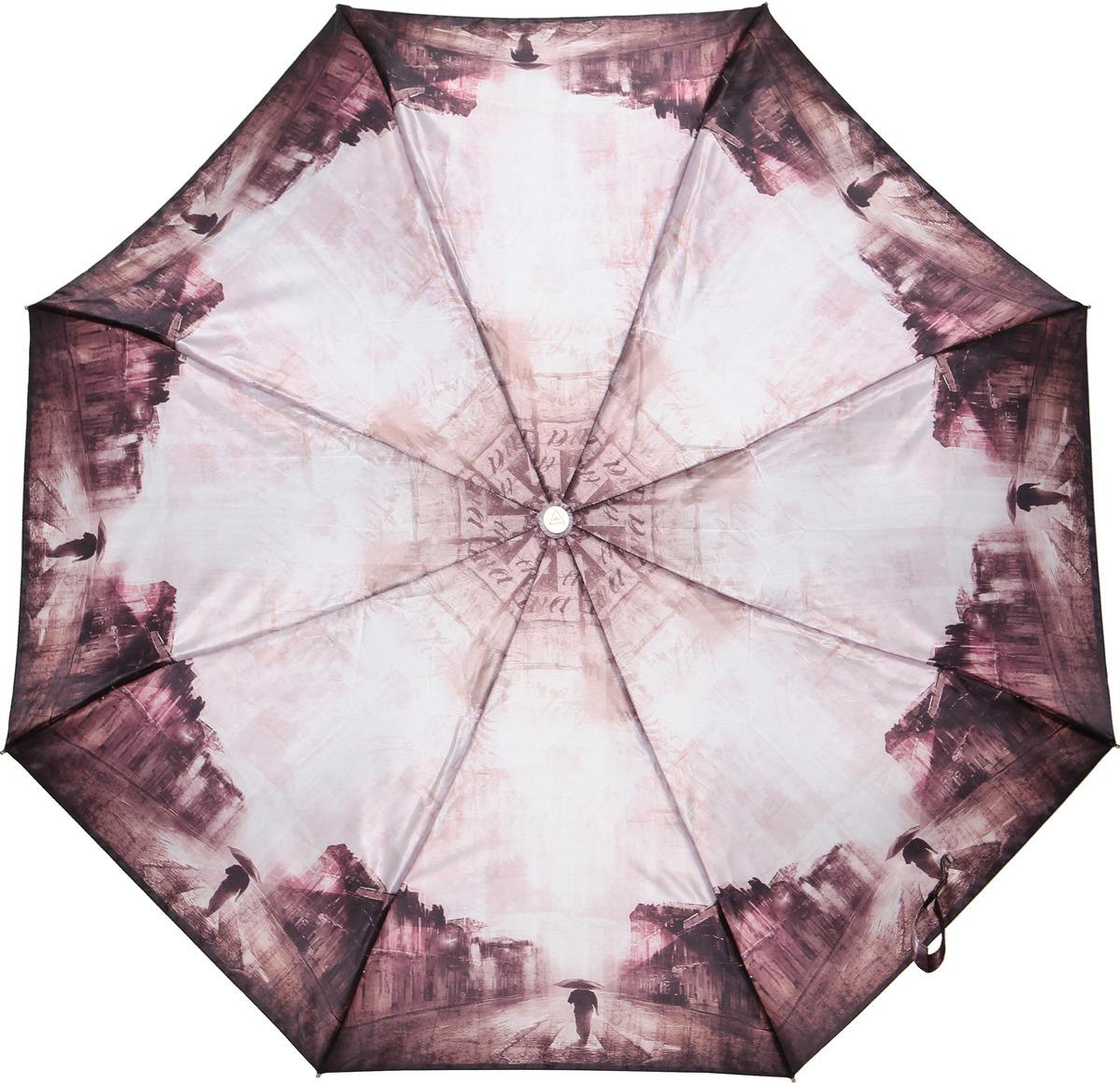 Зонт женский Fabretti, суперавтомат, 3 сложения, цвет: розовый. L-18115-9