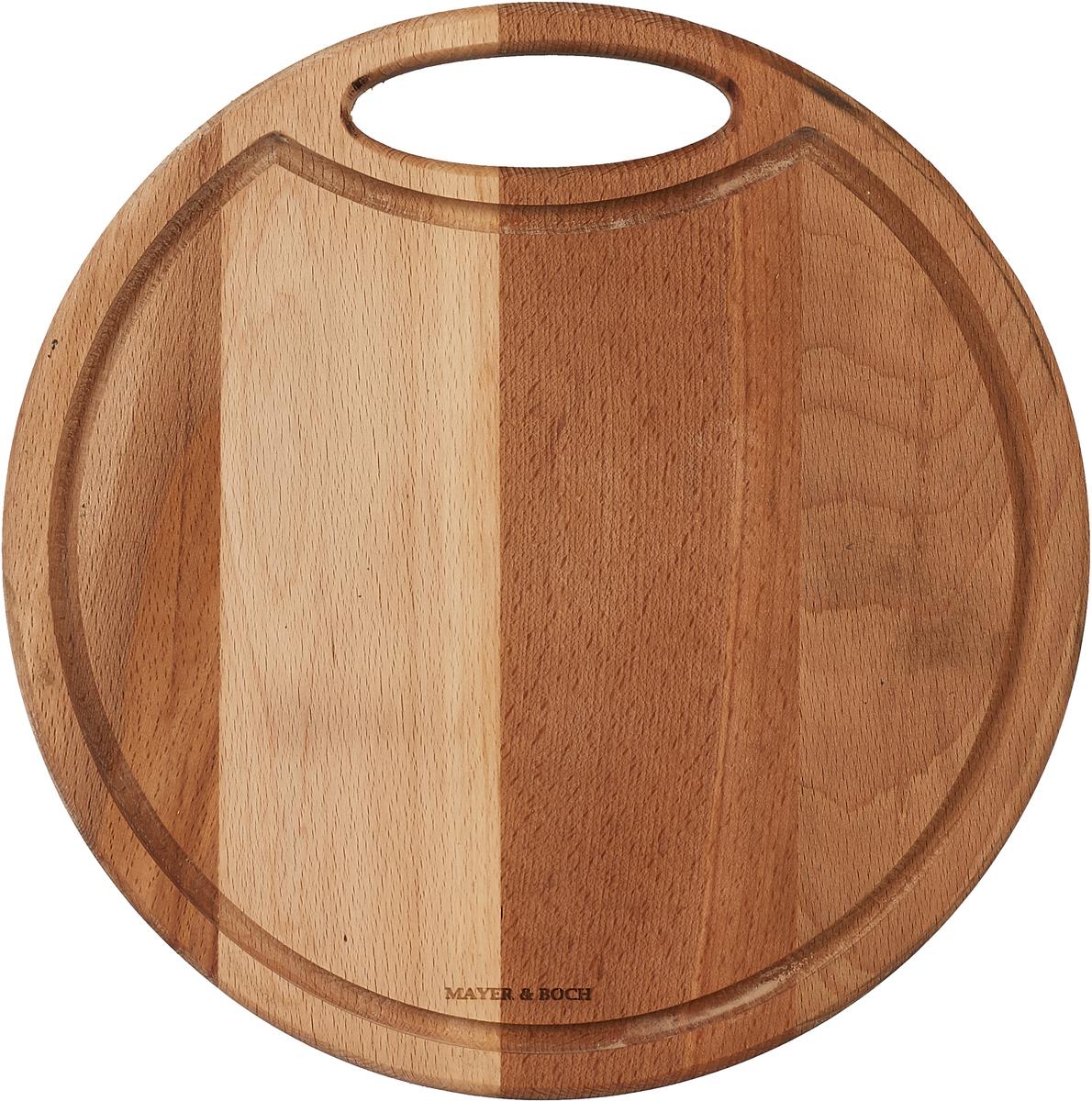Разделочная доска Mayer & Boch, 40030, коричневый, 30 х 30 см разделочная доска бамбук 35х18 см mayer and boch мв 22588