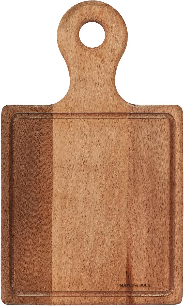 Разделочная доска Mayer & Boch, 40031, коричневый, 32 х 24 см доска разделочная для пиццы америка цвет коричневый 32 х 32 х 1 5 см
