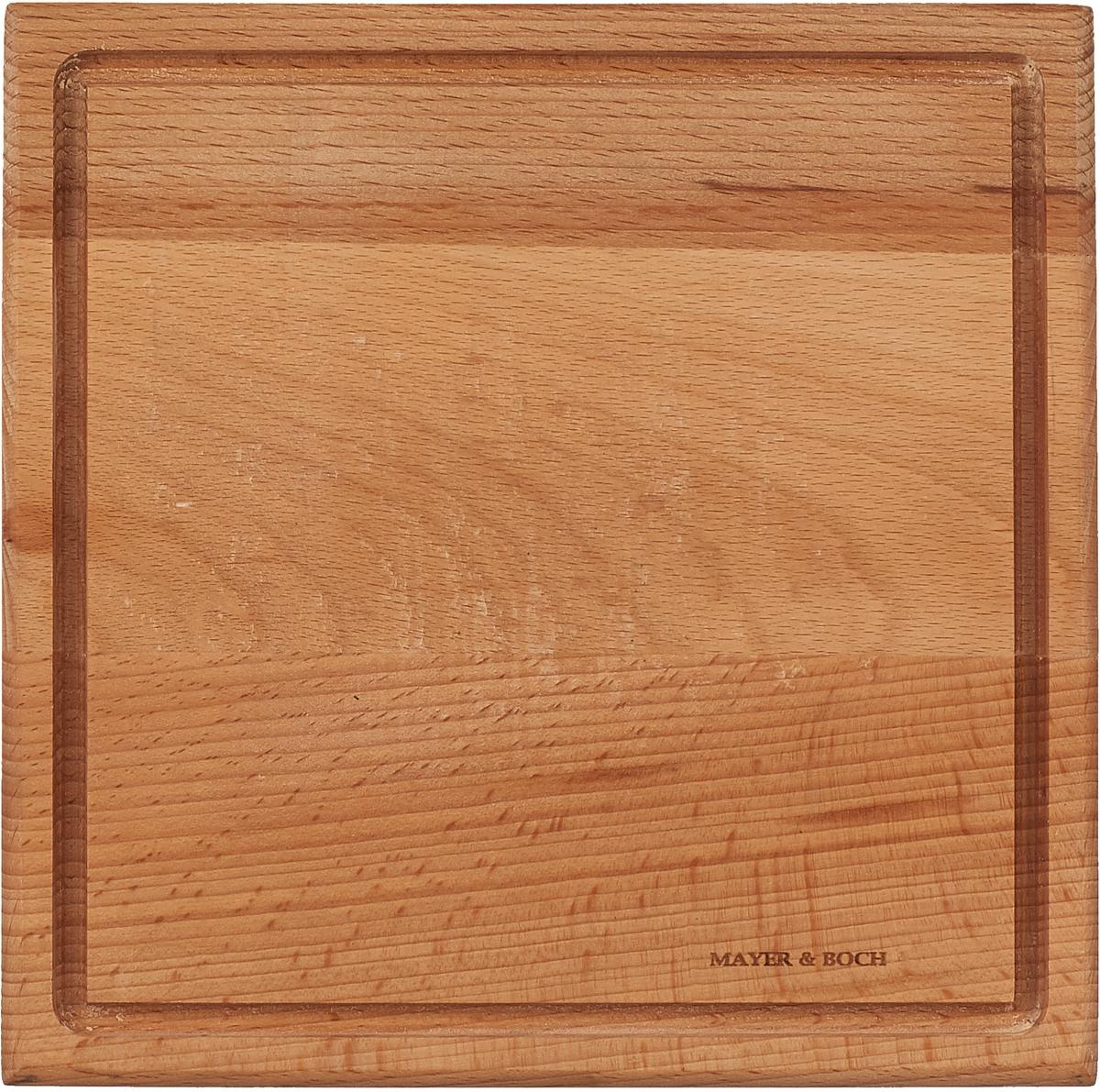 Разделочная доска Mayer & Boch, 40027, коричневый, 30 х 30 см разделочная доска бамбук 35х18 см mayer and boch мв 22588