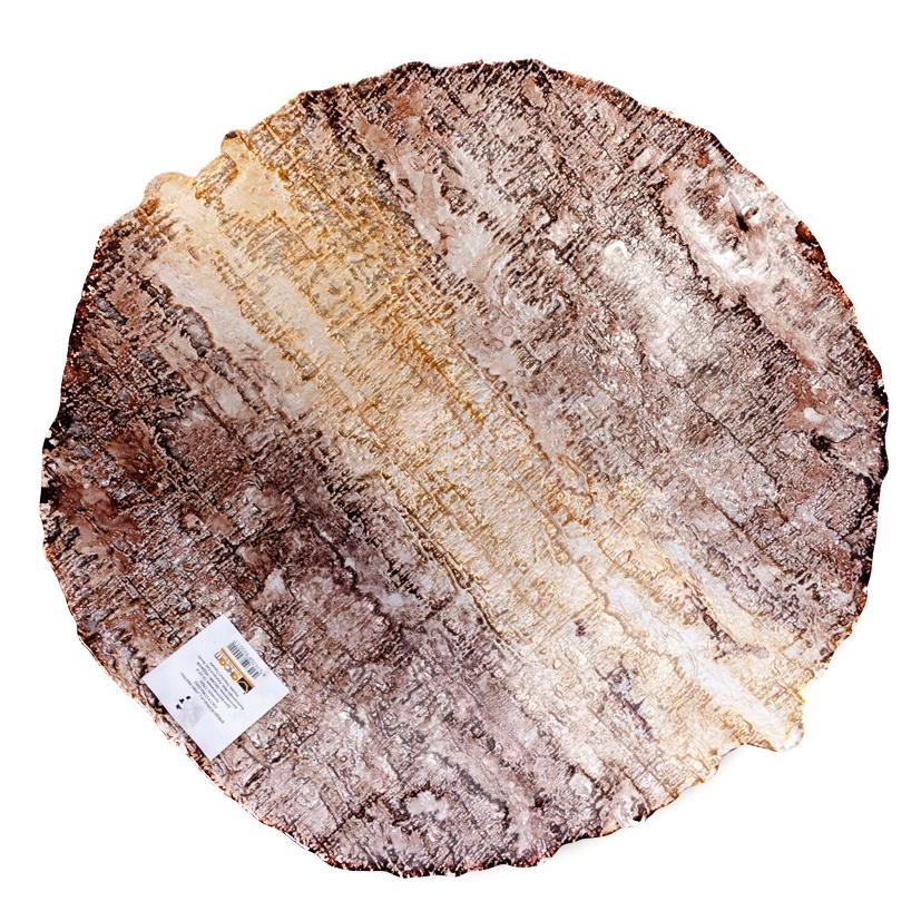 Блюдо АКСАМ-АКДЖАМ большое ДЕРЕВО, 17820, диаметр 40 см, подарочная упаковка, коричневый
