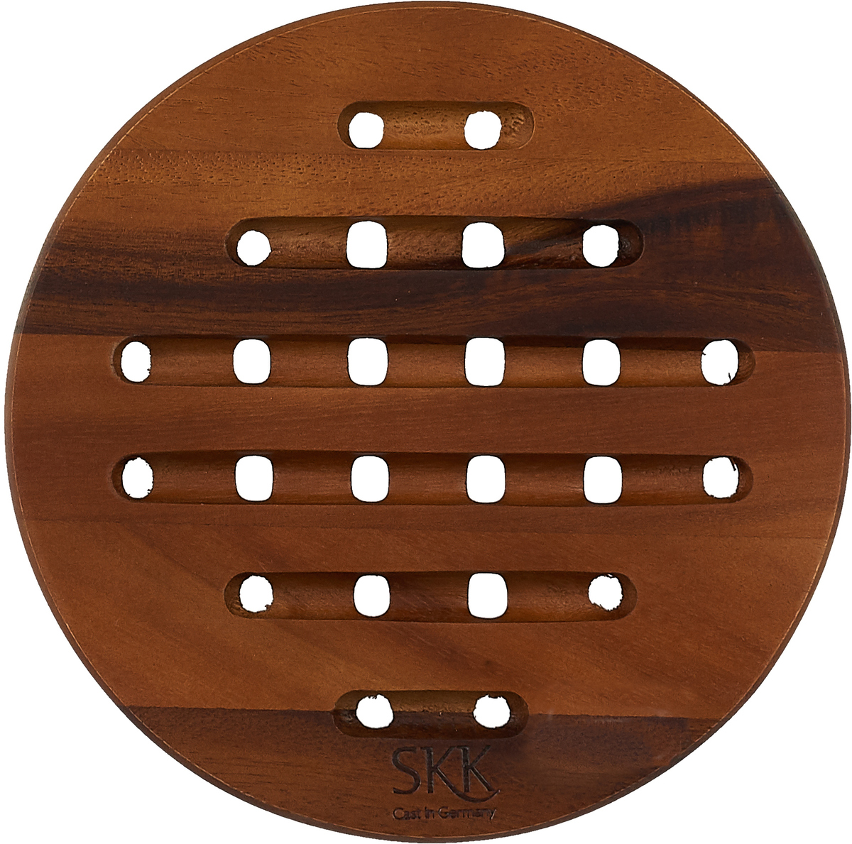 Подставка под горячее SKK, ACA-011, темно-коричневый, диаметр 19 см подставка под горячее феникс презент хризантема цвет черный золотистый диаметр 17 см