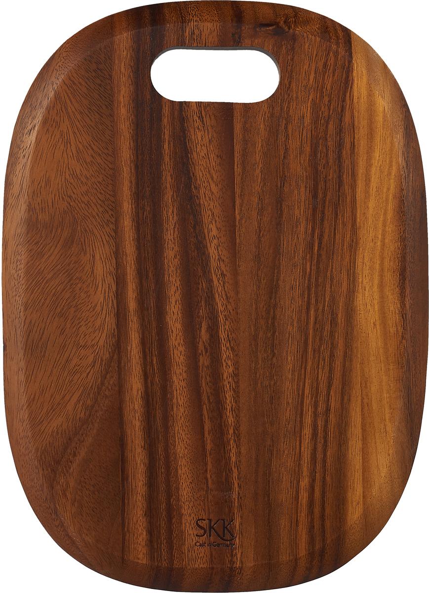 Разделочная доска SKK, АСА-2636SB, темно-коричневый, 36 х 26 х 1 см доска разделочная для пиццы америка цвет коричневый 32 х 32 х 1 5 см