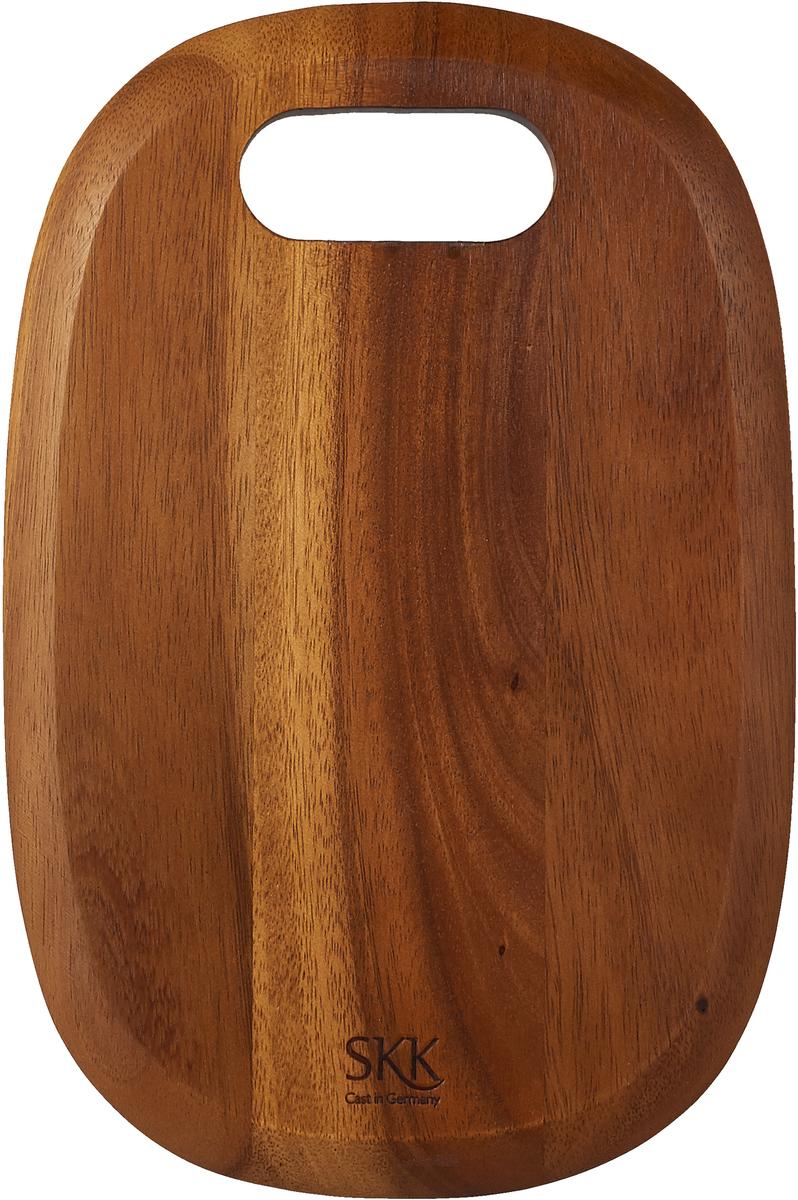 Разделочная доска SKK, АСА-2030SB, темно-коричневый, 30 х 20 х 1 см доска разделочная для пиццы америка цвет коричневый 32 х 32 х 1 5 см