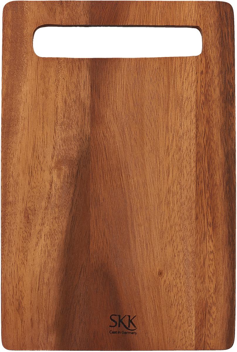 Разделочная доска SKK, ACA-8HLN, темно-коричневый, 30,5 х 20,5 х 2 см доска разделочная для пиццы америка цвет коричневый 32 х 32 х 1 5 см