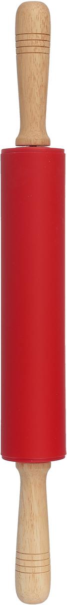 Скалка Mayer & Boch, с вращающимся валиком, 28060, красный, 47 х 5,3 см