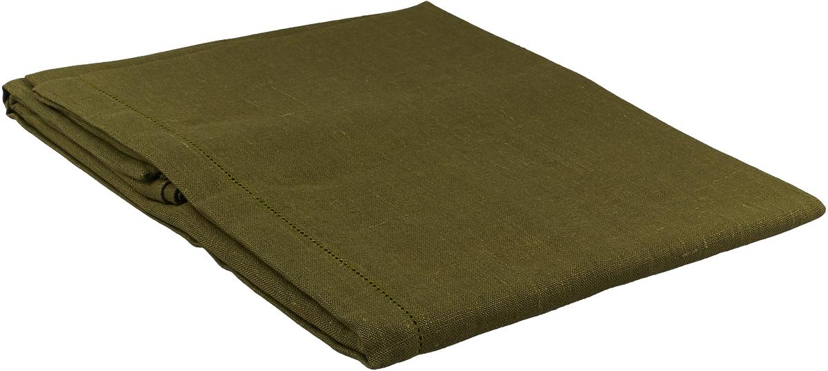 Скатерть ажурная Гаврилов-Ямский Лен, 10со2065-31, зеленый, 140 x 250 см