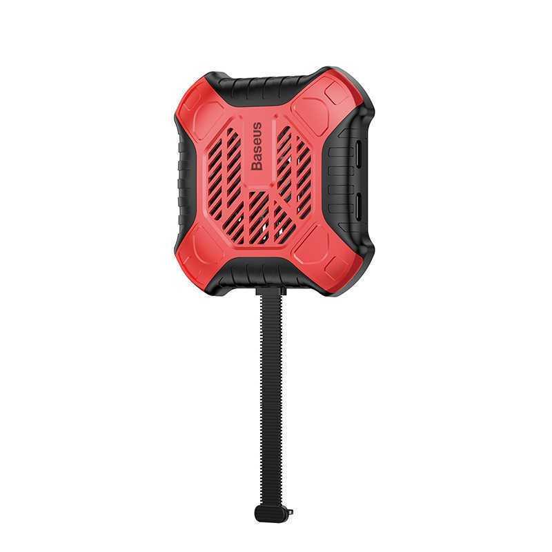 Адаптер-переходник Baseus ACSR-XJ09, красный адаптер baseus x men audio radiator red acsr xj09