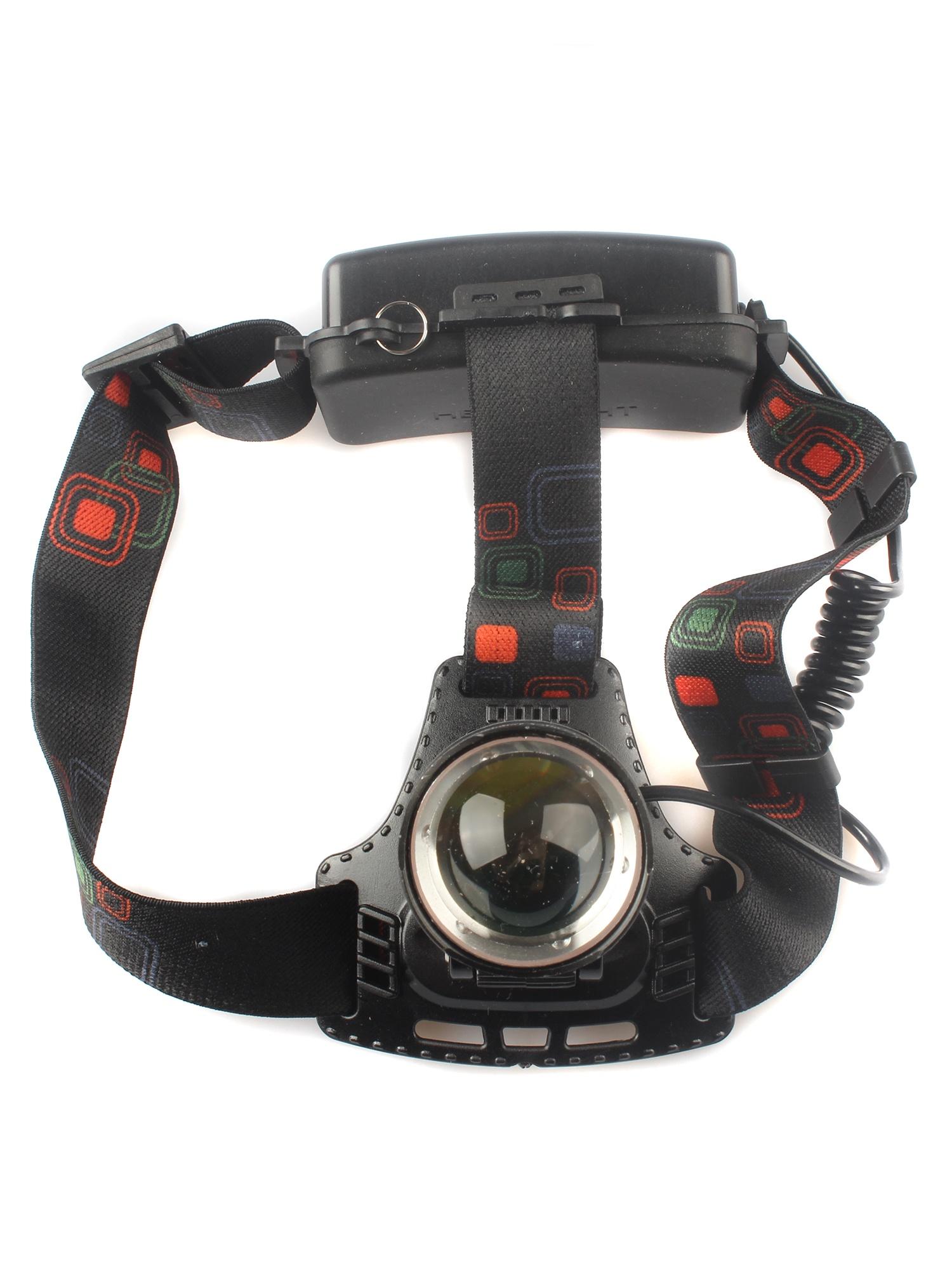 Налобный фонарь TipTop HL-T122-T6, черный