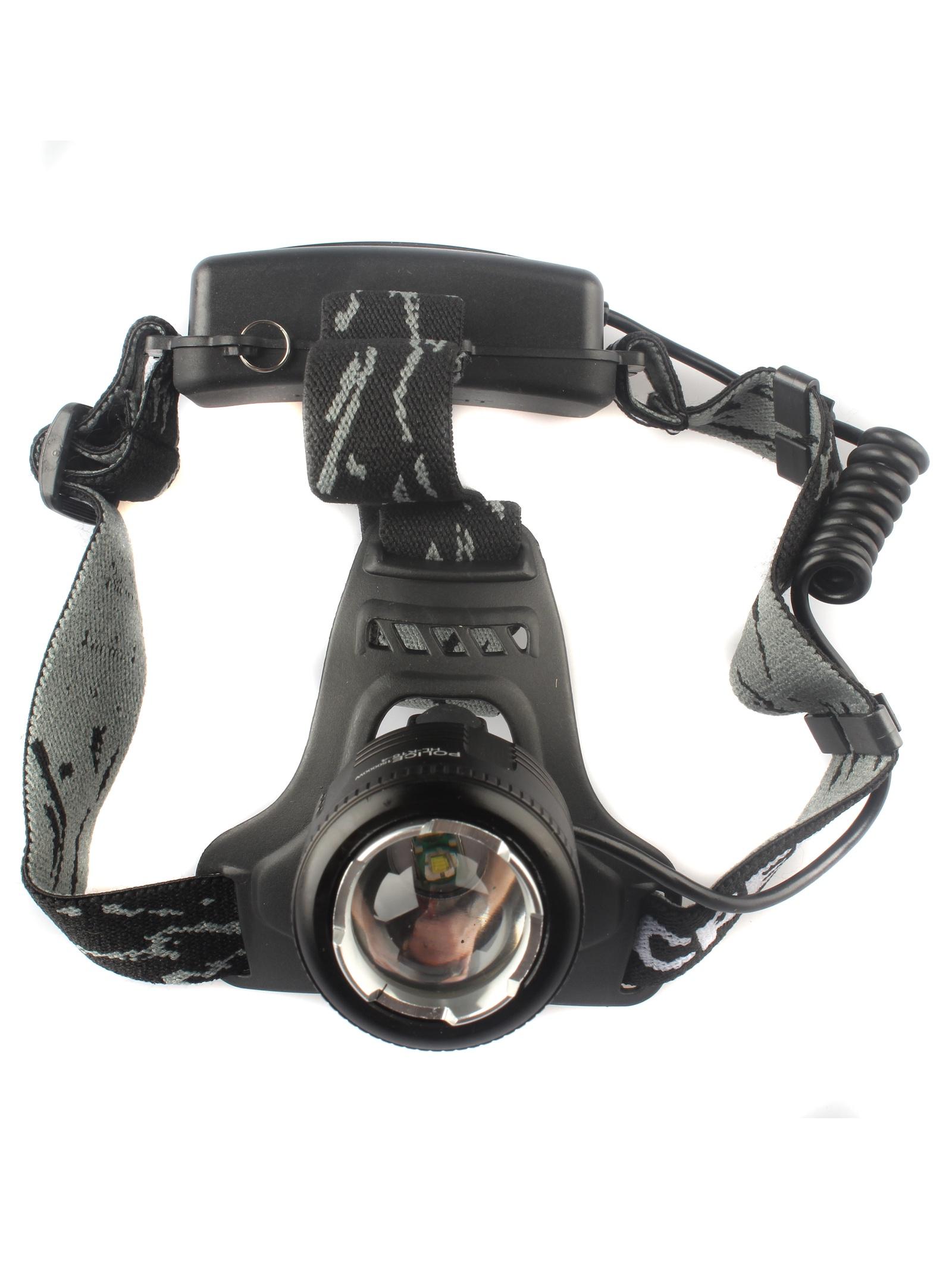 Налобный фонарь TipTop HL-K16-4, темно-серый