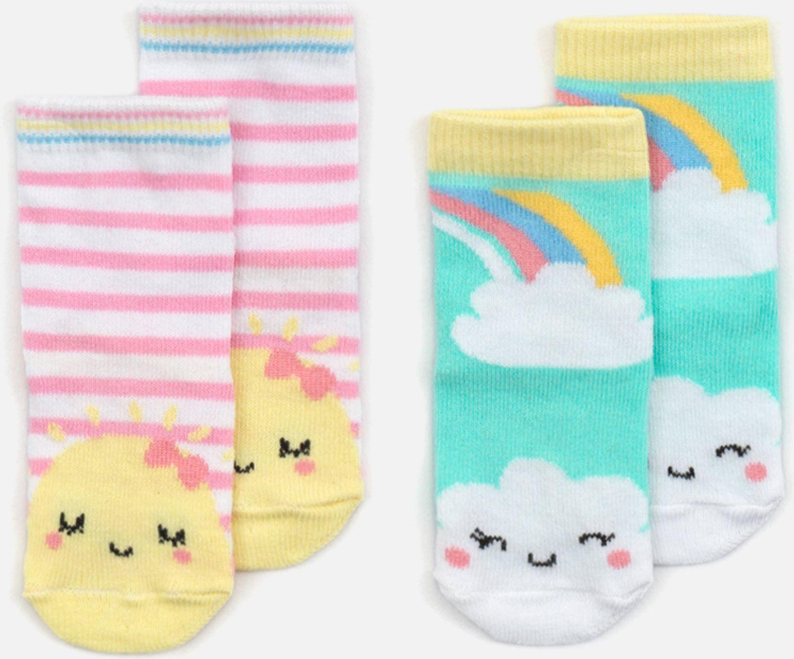 белье acoola носки детские 3 пары цвет ассорти размер 14 16 32224420039 Носки Acoola, 2 шт