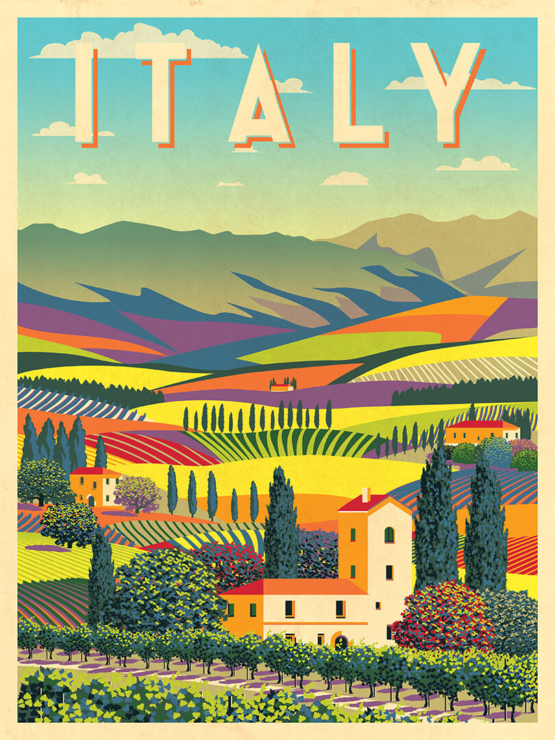 Панно Postermarket Долина в Италии, DP-3403, 30 х 40 см