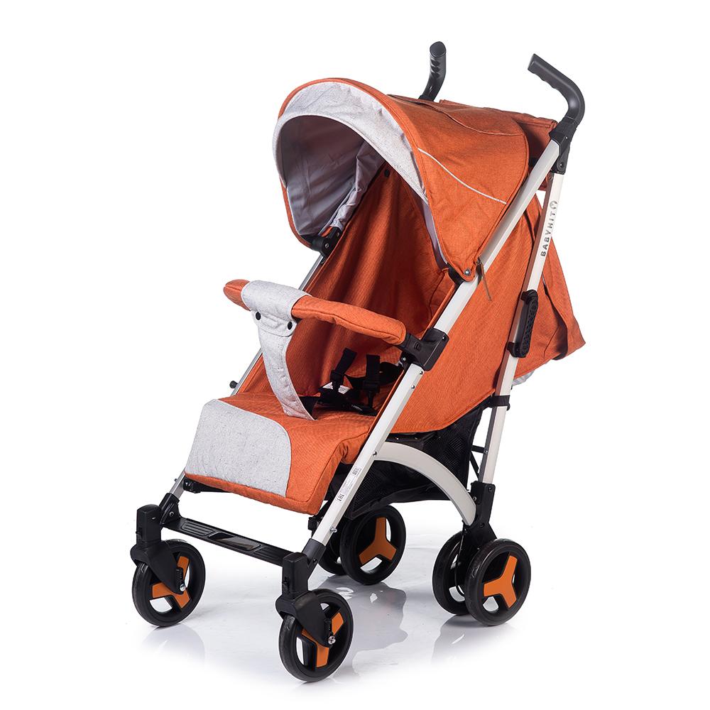 купить Коляска прогулочная Babyhit RAINBOW XT оранжевый онлайн