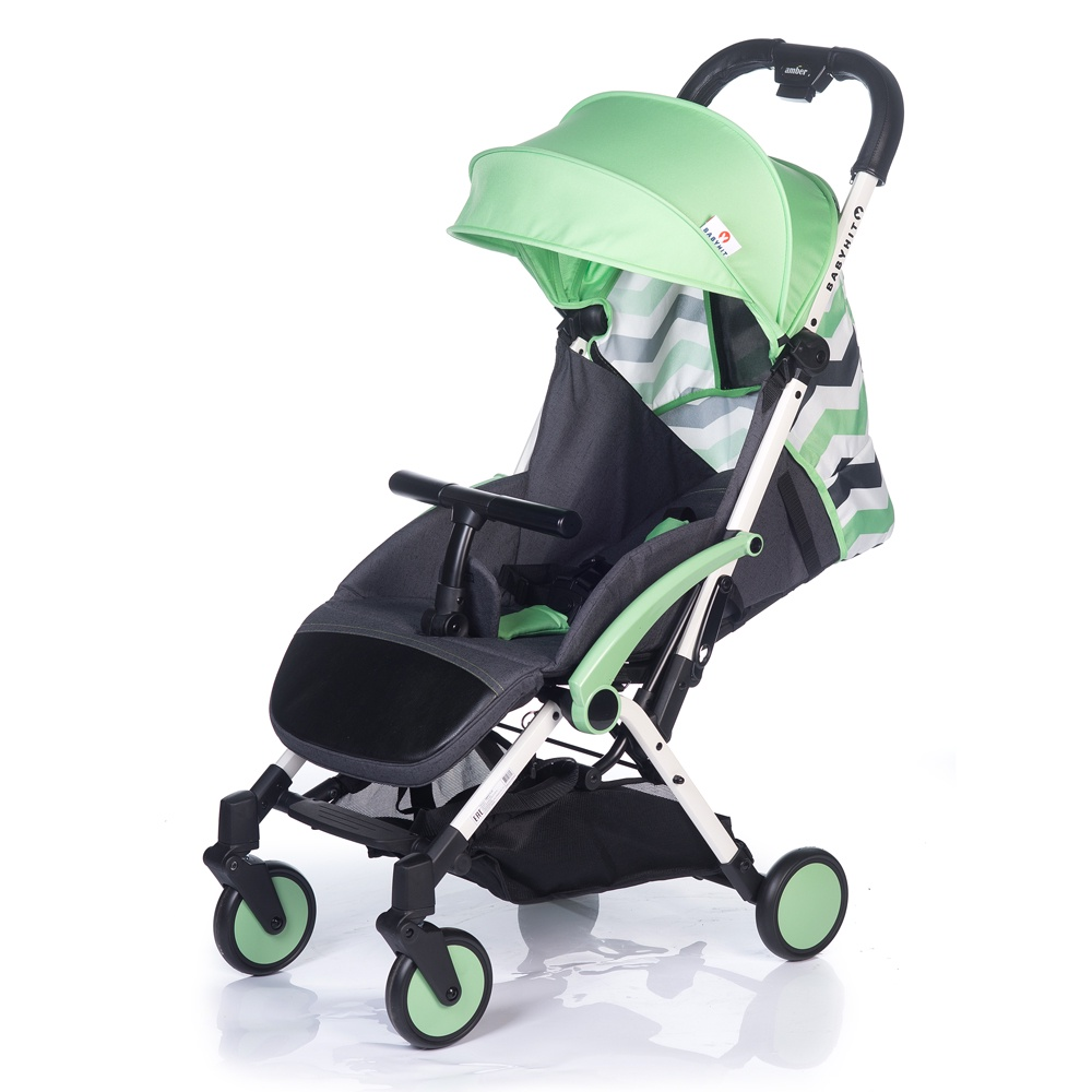 Коляска прогулочная Babyhit AMBER PLUS зеленый, белый коляска 2 в 1 babyhit evenly plus темно зеленый evenly plus dark green