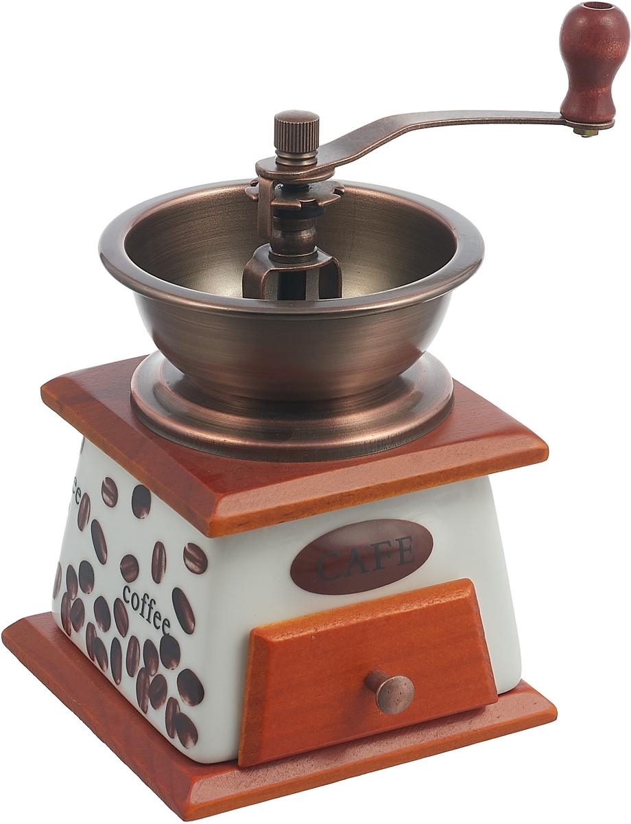 Ручная кофемолка Mayer & Boch, 27827, коричневый, белый