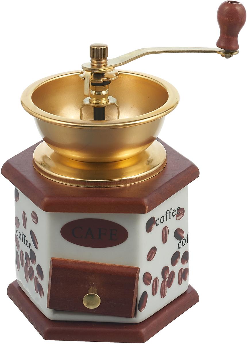 Ручная кофемолка Mayer & Boch, 27826, коричневый, белый