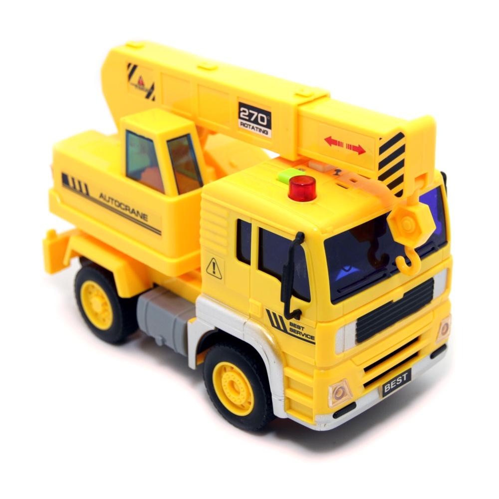 Спецтехника Balbi PT-005 Автокран желтый детские игрушки машины автокран