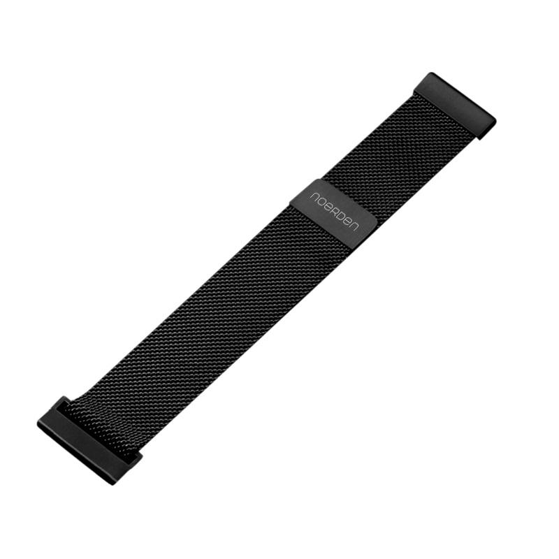 Фото - Ремешок для смарт-часов Noerden Миланское плетение, черный ремешок для смарт часов semolina 250220191427 4605180025667 черный