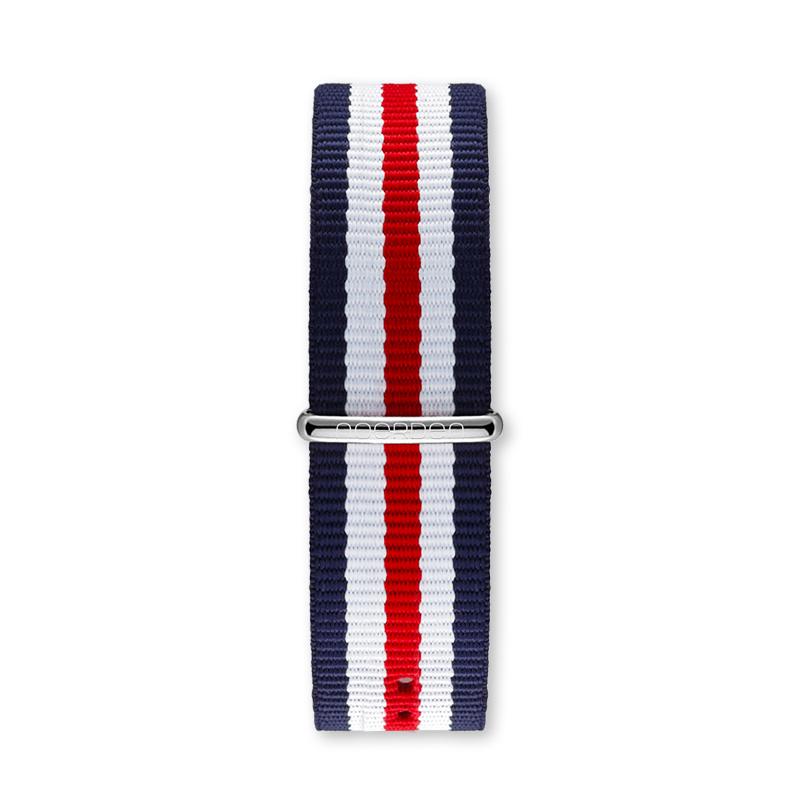 Ремешок для смарт-часов Noerden Универсальный 20 мм, тканевый, красный, белый, синий