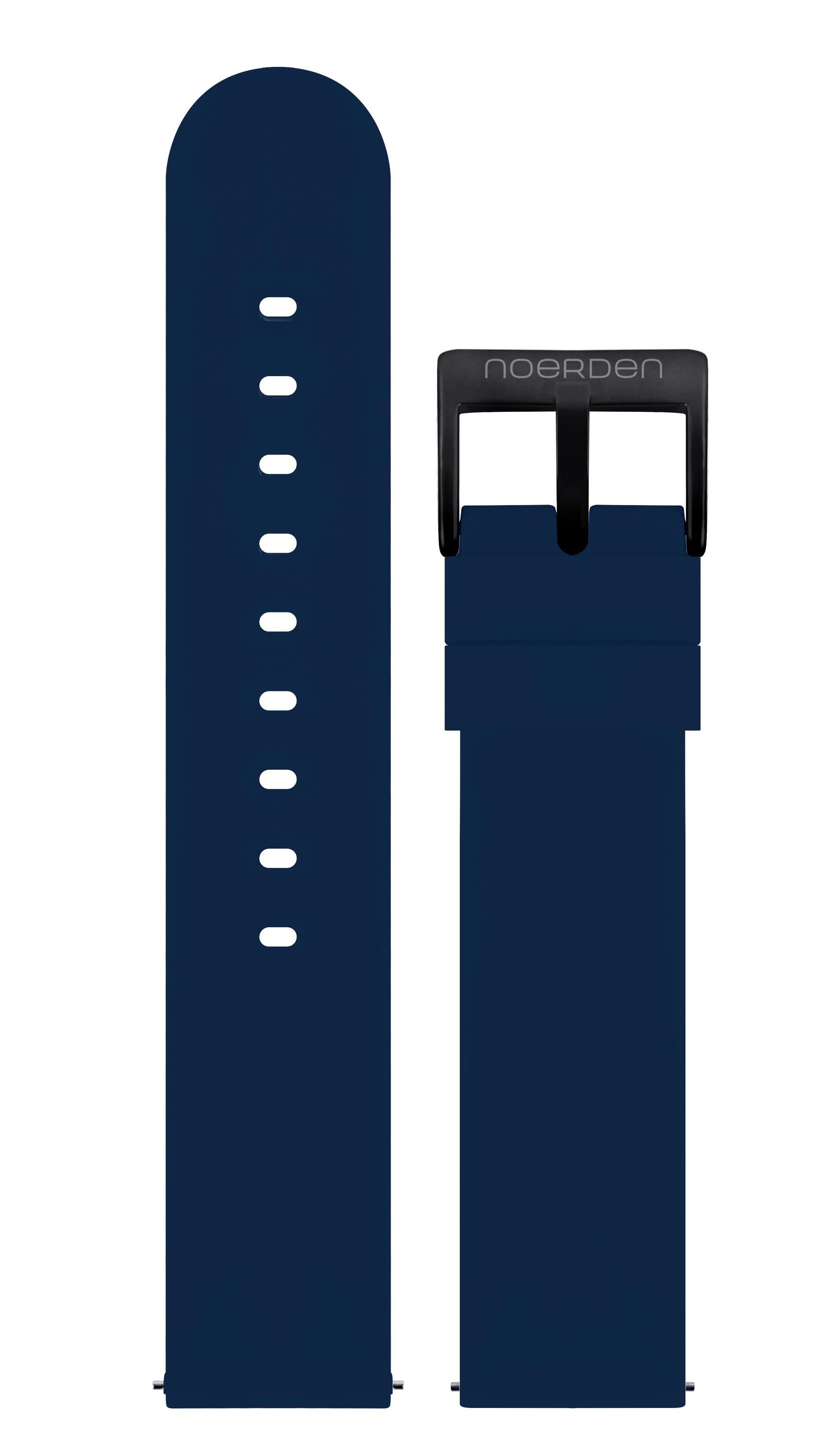 Ремешок для смарт-часов Noerden Универсальный 20 мм, силиконовый PAB-0010, синий