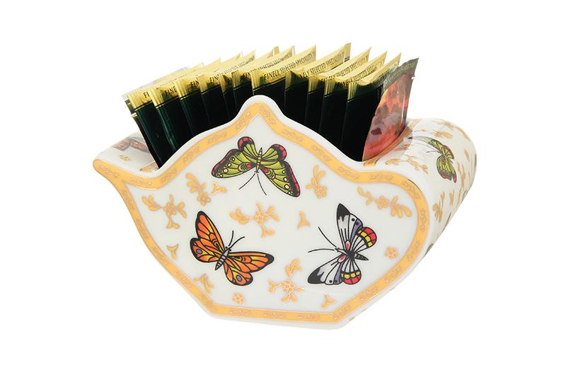 Подставка для чайных пакетиков Elan Gallery Чайник, белый, зеленый подставка сервировочная для чайных пакетиков elan gallery белый шиповник цвет белый зеленый желтый
