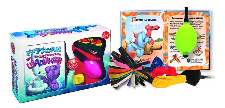 Набор для изготовления игрушки Маэстро Игрушки из воздушных шариков4627123180134Создай свой собственный самый легкий в мире зоопарк из воздушных животных! В этом тебе поможет 48-страничная книга с пошаговыми инструкциями и цветными иллюстрациями.В составе набора:Книга 48 стр. с цветными иллюстрациями27 шариков для моделированияМаленький насосФломастер