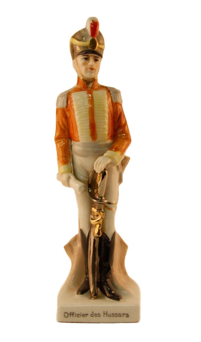 Статуэтка Гусарский офицер. Фарфор, роспись. Германия, вторая половина XX века