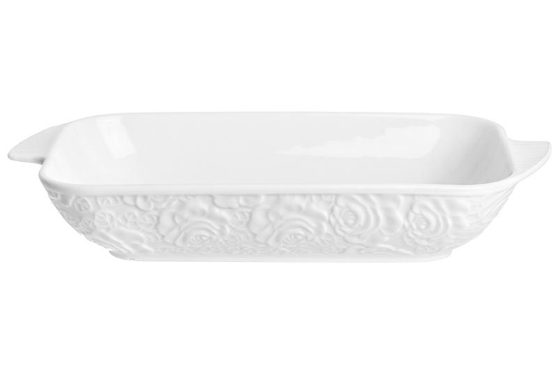 Блюдо Elan Gallery Белые розы, белый цена 2017
