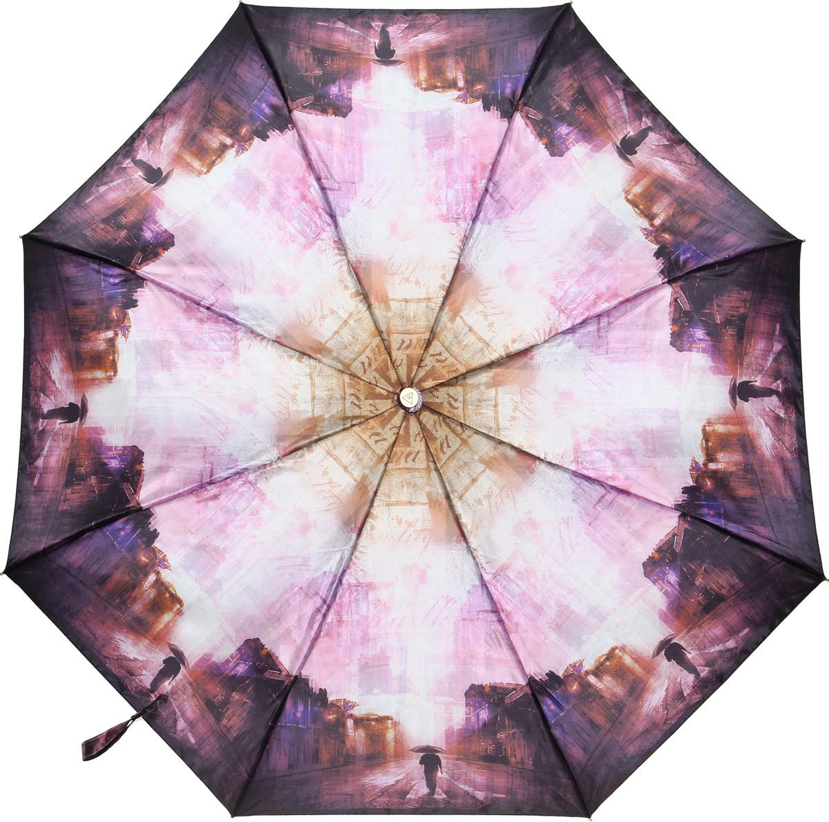 Зонт женский Fabretti, суперавтомат, 3 сложения, цвет: разноцветный. L-18116-9 недорго, оригинальная цена