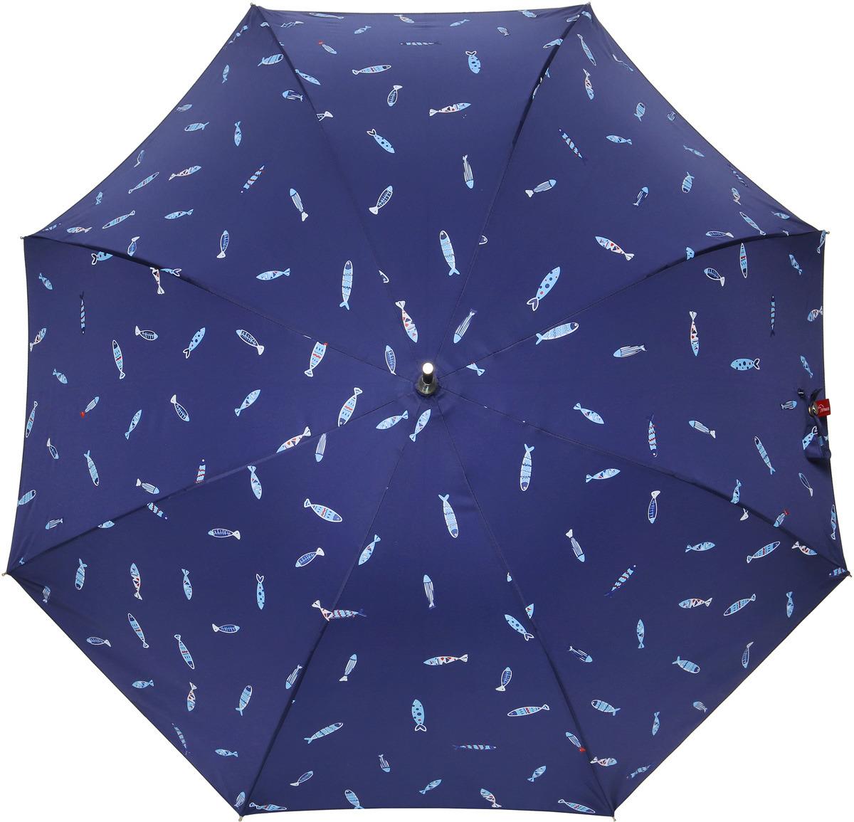 Зонт-трость женский Kawaii Factory Зонт-трость Рыбки, цвет: синий. KW041-000050 зонт женский трость спас медный всадник 106см