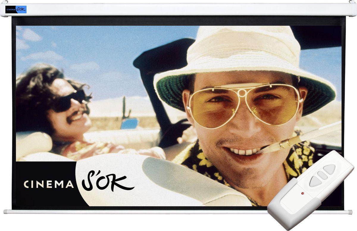 цена на Экран проекционный Cinema S'OK SCPSM-146x110 4:3 настенно-потолочный 72', белый