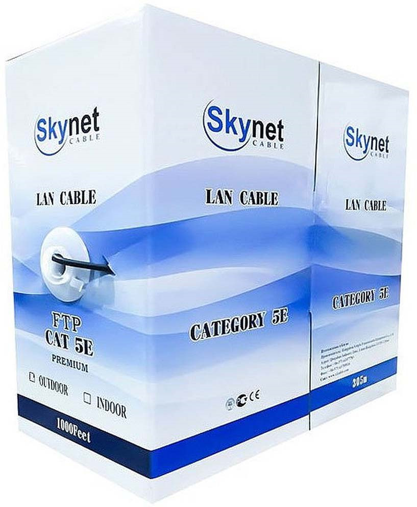 лучшая цена Кабель SkyNet Light FTP indoor, 305 м, серый