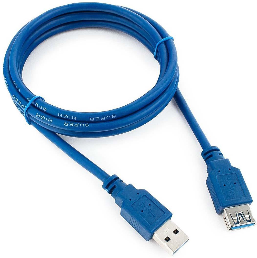 Кабель удлинит. USB3.0 Pro Gembird/Cablexpert AM/AF, 1.8м, экран, синий, пакет CCP-USB3-AMAF-6