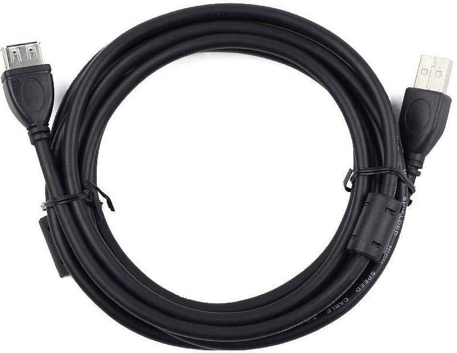 Кабель Cablexpert USB 2.0, 3 м, CCF2-USB2-AMAF-10, черный unitek usb кабель для передачи данных usb2 0 2 метра общественный порт передачи данных общего пользования b с принтером hp hp epson hp y c4001fgy