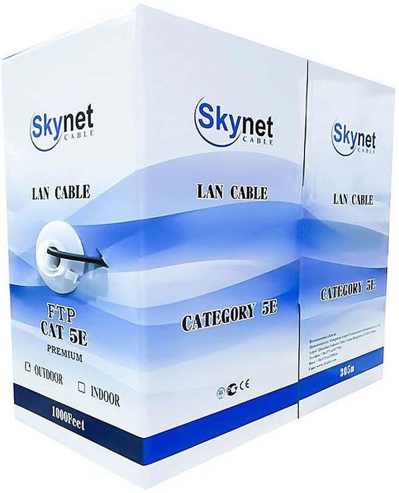 Кабель SkyNet Light FTP indoor, 305 м, CSL-FTP-2-CU, серый