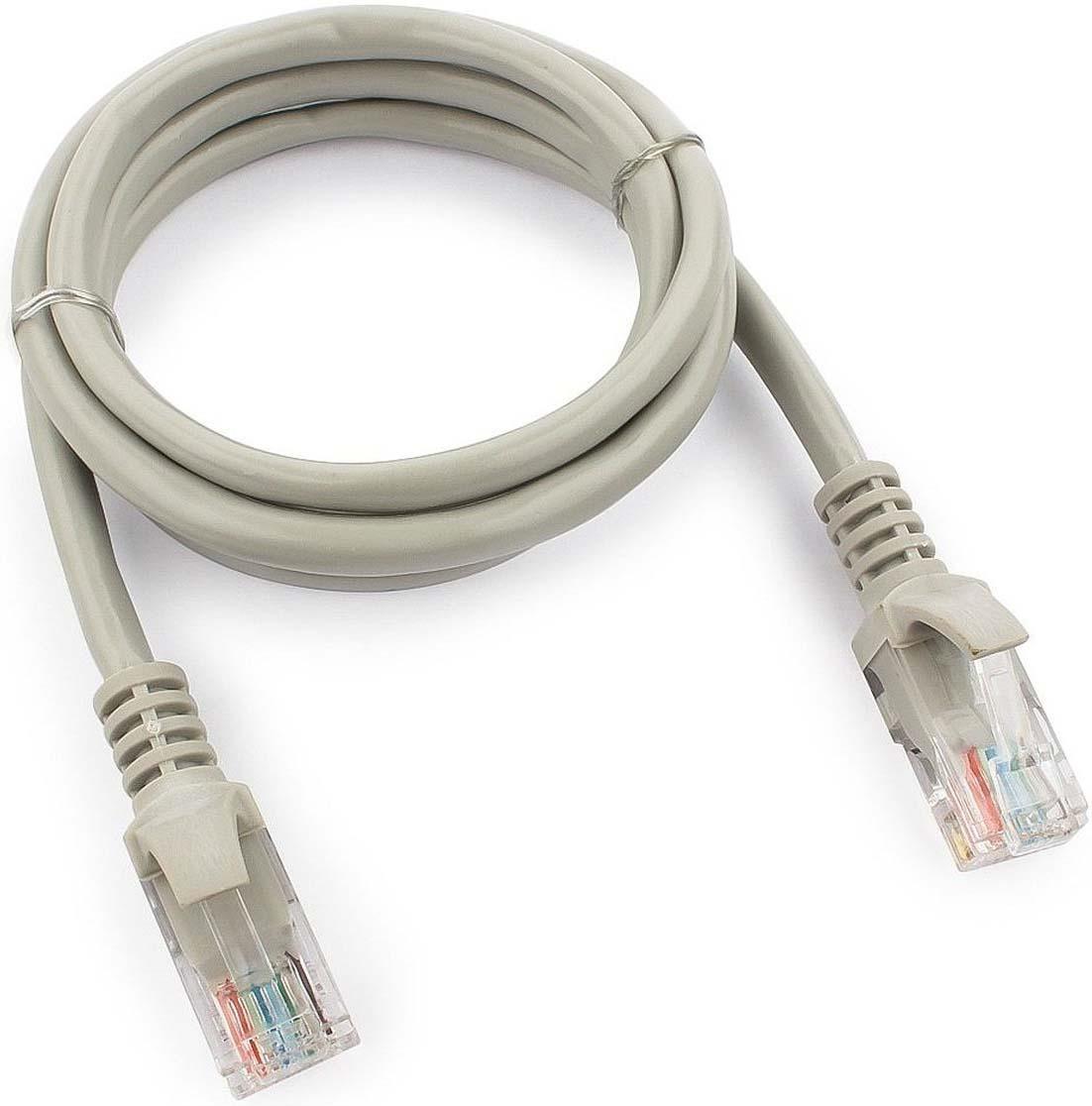 Кабель патч-корд UTP Cablexpert RJ-45, 1 м, PP12-1m, серый кабель патч корд utp cablexpert rj 45 5 м pp12 5m b синий