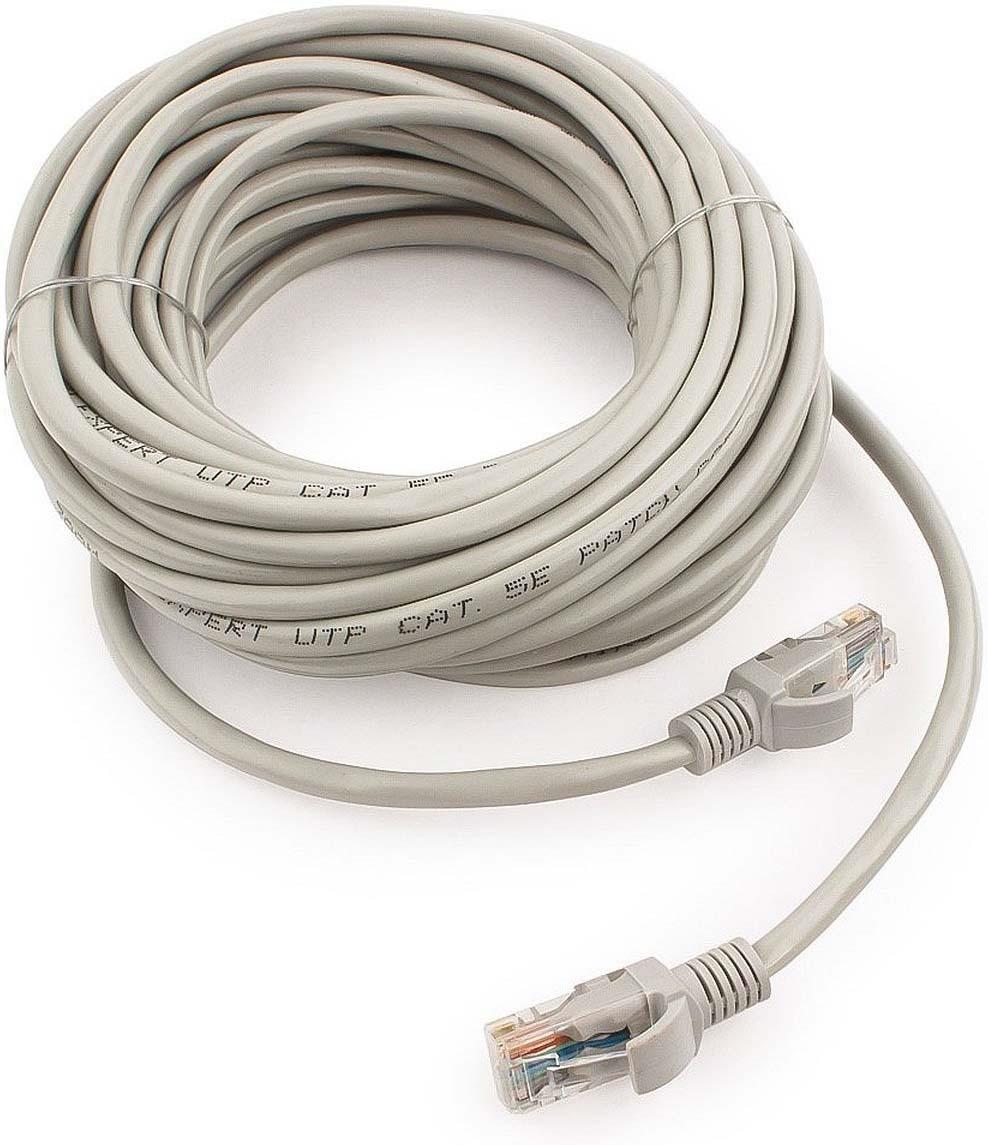 Кабель патч-корд UTP Cablexpert RJ-45, 10 м, PP12-10M, серый кабель патч корд utp cablexpert rj 45 5 м pp12 5m b синий