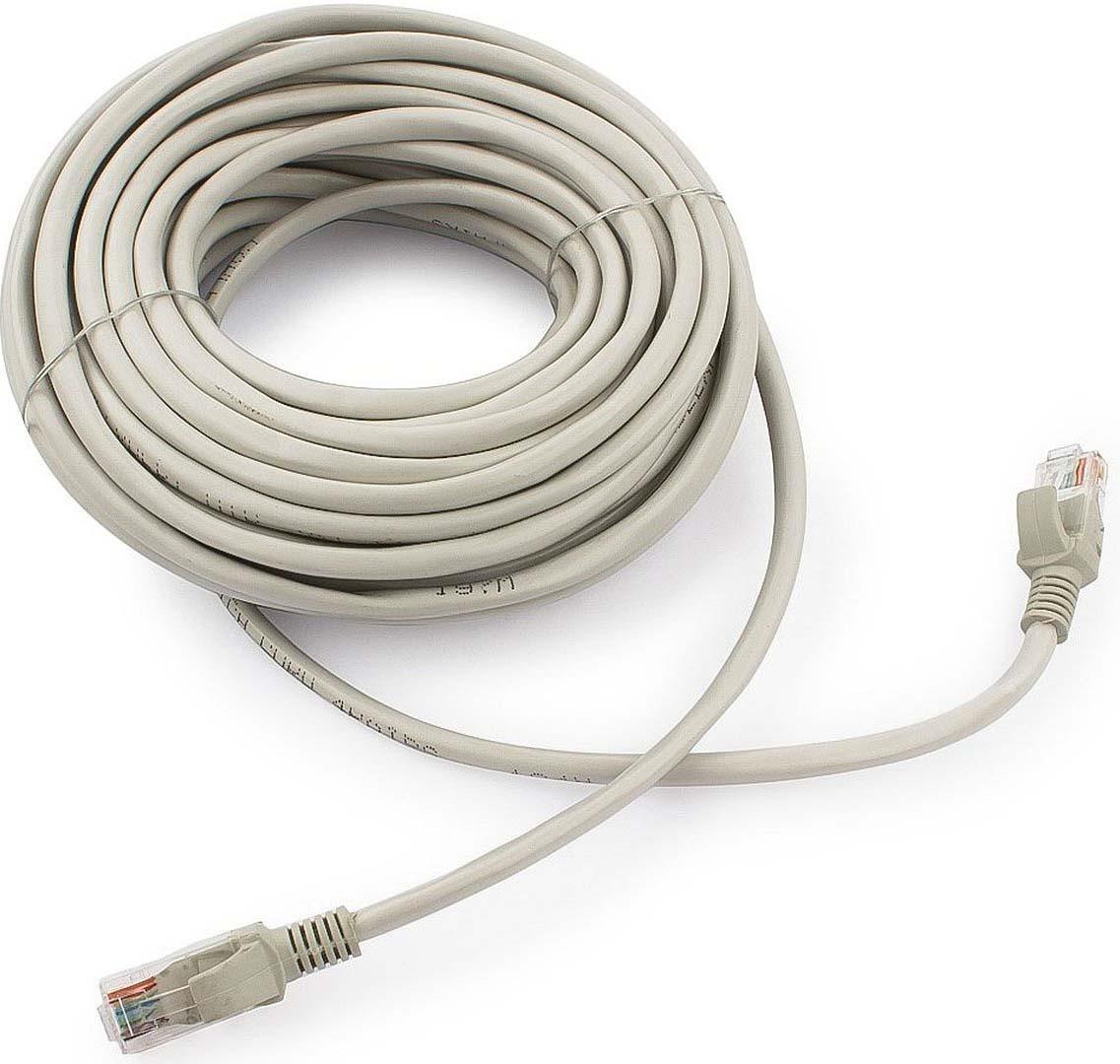 Кабель патч-корд UTP Cablexpert RJ-45, 15 м, PP12-15M, серый кабель патч корд utp cablexpert rj 45 5 м pp12 5m b синий