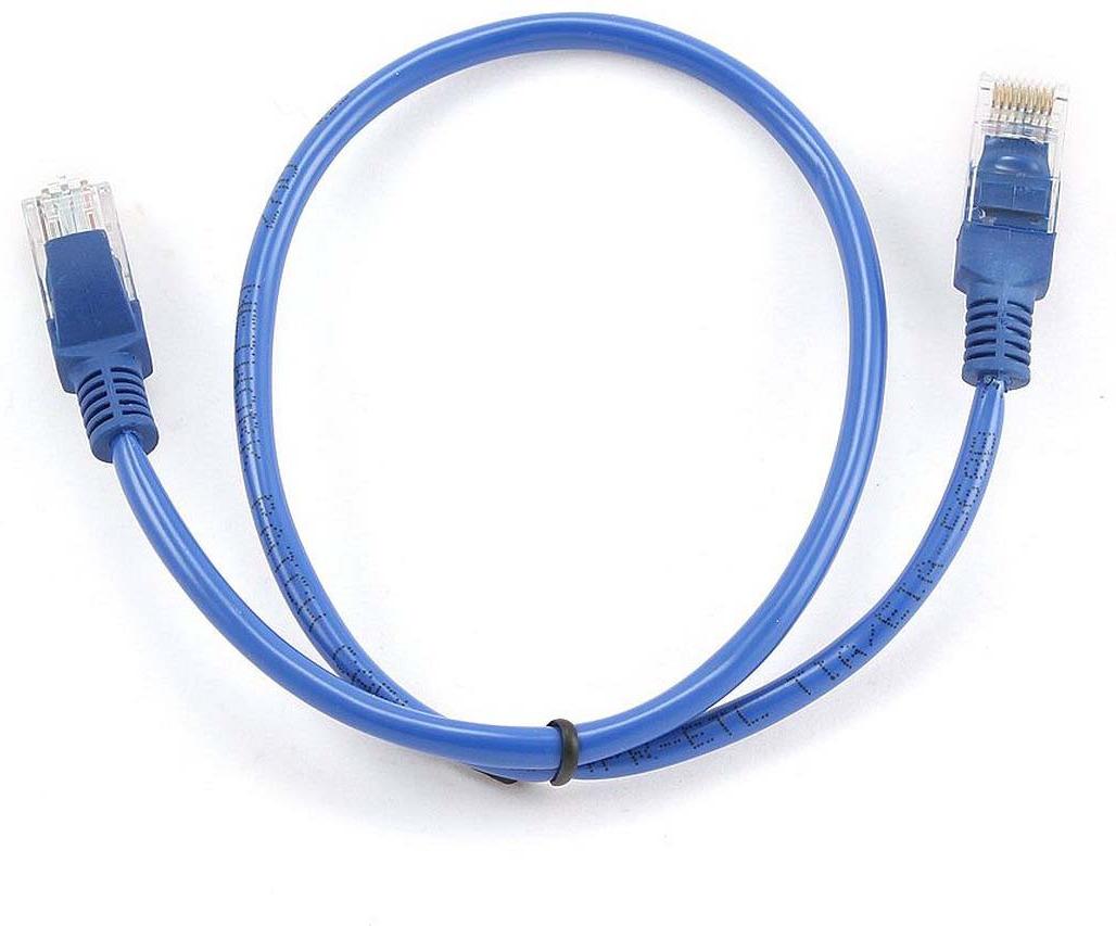 Кабель патч-корд UTP Cablexpert RJ-45, 0,5 м, PP12-0.5M/B, синий