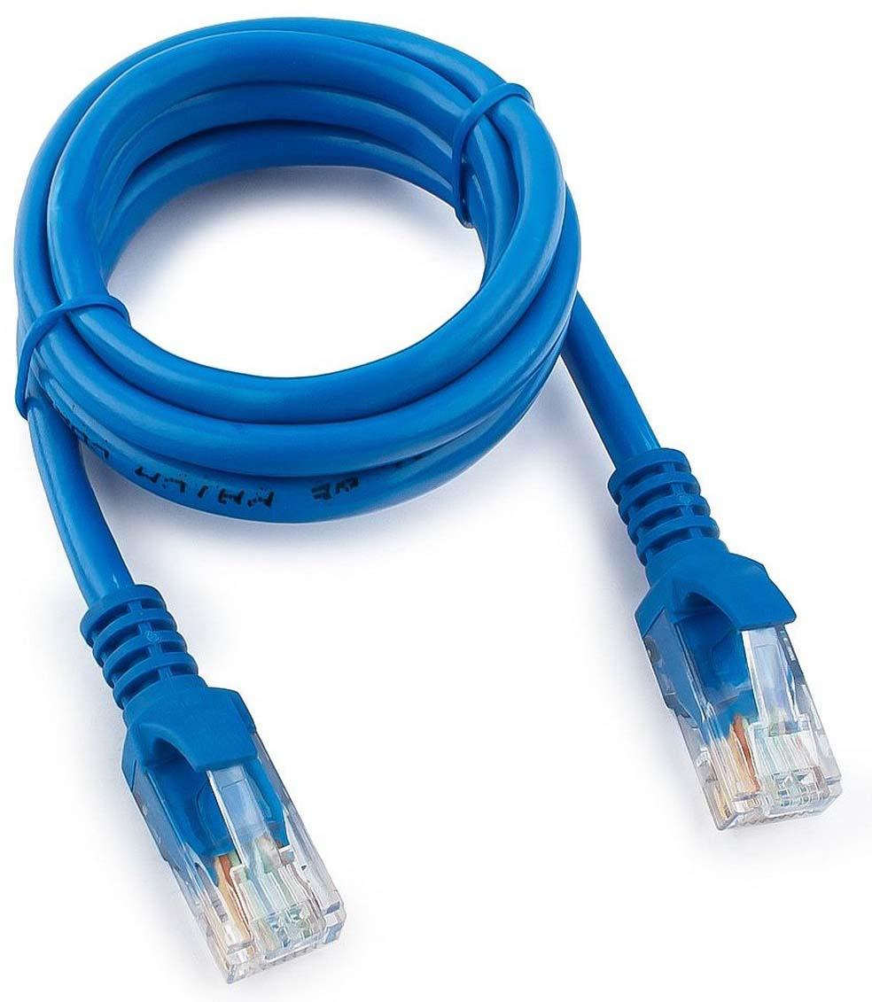 Кабель патч-корд UTP Cablexpert RJ-45, 1 м, PP12-1M/B, синий кабель патч корд utp cablexpert rj 45 5 м pp12 5m b синий